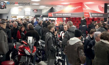 Inauguration, dédicaces, interviews... Chez Morbihan-Moto !